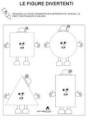 Schede Didattiche Figure Geometriche Per Bambini Di 45 Anni