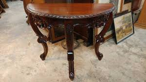 antique vintage solid mahogany hall table half round table 00n0n 64i5nbmxsnj 600x450