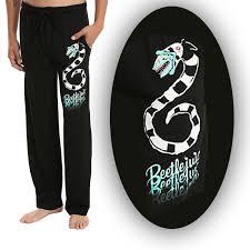 Sandworm Size Chart Details About Mens Womens New Beetlejuice Sandworm Black Pajama Lounge Pants Size S Xl