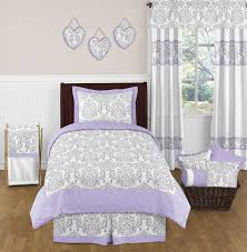 lavender and gray elizabeth childrens and kids bedding 4pc twin set by sweet jojo designs only 119 99