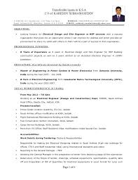 Interesting Electrical Site Engineer Sample Resume Cute Download