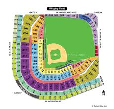 Wrigley Field Seating Chart Prices Wrigley Field Chicago Il Seating Chart View