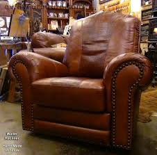 details about 100 hand cut top grain leather recliner in red brown made in usa dallas texas