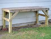 workbench plans 4x4. building an outdoor workbench plans 4x4