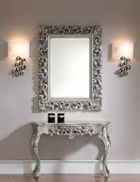 foyer console table and mirror. Console Table Design, Foyer And Mirror Set Silver Artistic Carved Wooden Segments Interesting Article About D