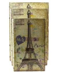 Stacking Boxes Decorative Three Nesting Wood Book Stacking Paris Eiffel Tower French 39