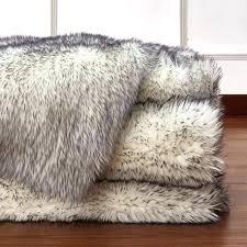 black faux sheepskin rug fox fur rug faux fur rug rug factory plus faux fox white black faux sheepskin rug