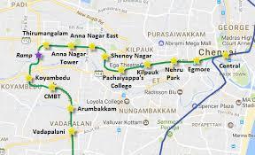 Chennai Metros 8 Km Koyambedu Nehru Park Section