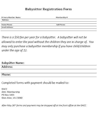 10 babysitter form templates in pdf
