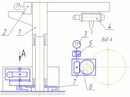 Шейнблит А Е Курсовое проектирование деталей машин Готовые  1 Поликлиноременная передача 2 двигатель 3 червячный редуктор 4 тяговая цепь 5 подъемный монорельс 6 груз 7 муфта упругая с торообразной