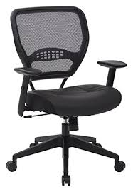 Office Chairs Pictures AirGrid Dark Back And Padded Black Eco Leather Seat 2to1 Synchro Tilt Control Adjustable Arms Tension With Nylon Base Managers Chair Office Chairs Pictures