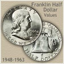 1959 Franklin Half Dollar Value Chart Franklin Half Dollar Value Tied To Condition