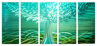 wall art teal color