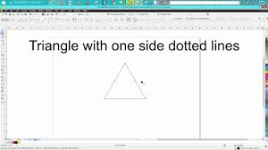 Dotted line circle vector free vector 4.67kb. Corel Draw Tips Tricks Triangle Part 4 Dotted Line Youtube