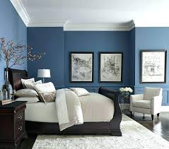 bed blue gray walls living room accent wall with