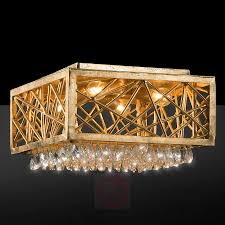 alice gold ceiling lamp with crystals 3532149 01