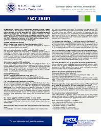 Free Esta U.s.a. Fact Sheet | Templates At Allbusinesstemplates.com