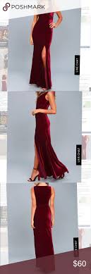 Lulus Size Chart Lulus Velvet Burgandy Maxi Dress Size S See Photos For