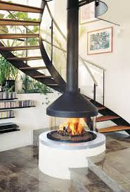 suspended and hanging fireplaces