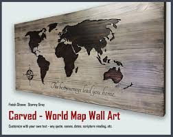 world map home decor customized personalized wood wall art travel decor  on personalized wood wall art with world map home decor customized personalized wood wall art