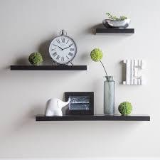 hudson easy mount floating shelves 3 pk 36 in 24 in 12 in espresso com