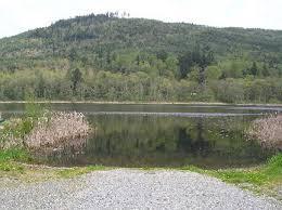 kress lake. exit 221 on i-5, east hwy 534 approx 2.5 mi, left lake 16 rd, .75 mi right. kress