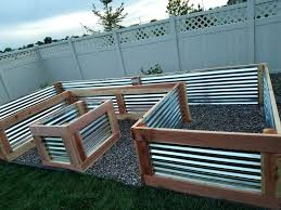 corrugated metal raised garden beds galvanized