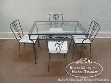 rod iron dining room set. vintage wrought iron 5 piece patio table \u0026 chairs dining set rod room