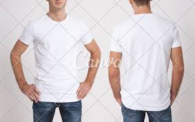 Blank White T Shirt Design Shirt Design And People Concept Close Up Of Young Man In