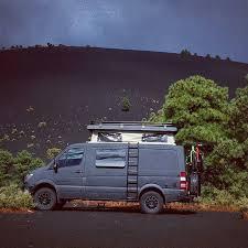 sportsmobile 4x4 sprinter van with aluminess roofrack and rear per photo cred instagram advanturing sprinter van 4x4 and vans