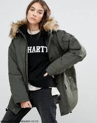 carhartt wip oversized anchorage hooded parka jacket with removable faux fur khaki women carhartt manual parka affordable wip siberian cflvxyz069