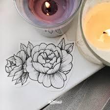 фото эскизы пион в стиле вип шейдинг дотворк татуировки на плече