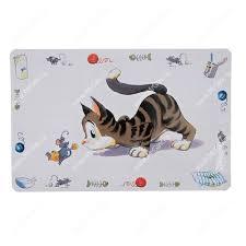 <b>Коврик под миску Trixie</b>, Кошка, 24544, 44 см*28 см - Интернет ...