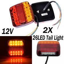 Led Boat Trailer Brake Lights Details About 2x 12 26 Led Tail Lights Stop Brake Lamps Waterproof Boat Trailer Truck Light