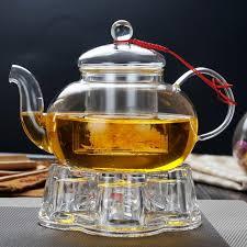 tea set glass tea pot heater glass warmer base glass teapot warmer
