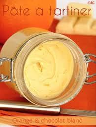 pâte à tartiner pour crêpes gourmandes 2 chocolat blanc orange purée d amande