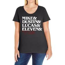 Custom Mike Dustin Lucas Eleven Will Ladies Curvy T-shirt By Firstore -  Artistshot