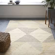 trendy design west elm kilim rug symmetry geo tile wool