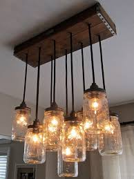 Mason jar chandelier...you can take the girl out of West Virginia,