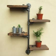urban industrial furniture. This Steampunk Wall Mount Pipe Shelf Throws A Great Industrial Urban Style Onto Your Walls. Galvanised Loft Iron Water Pipes Provide Display For Books \u0026 Furniture