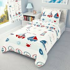 details about sea boats baby bedding set duvet covers for cot cot bed toddler 100 cotton