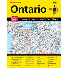 Canadian City Distance Chart Ontario Map Amazon Com