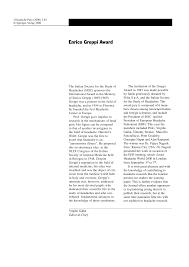 Enrico Greppi Award