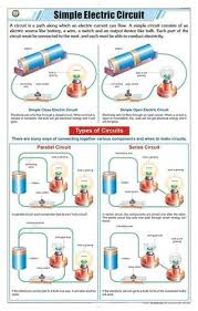Physics Chart Paper Simple Electric Circuit For Physics Chart