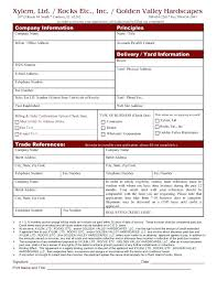 Business Credit Application Form With Personal Guarantee Download