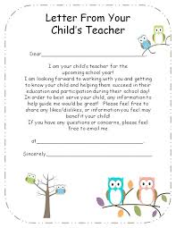 Teachers Welcome Letter To Parents Back School Template Theme