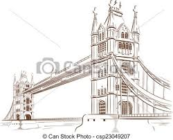 architectural drawings of bridges. Sketch Of London Bridge - Csp23049207 Architectural Drawings Bridges