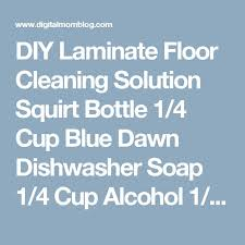DIY Laminate Floor Cleaning Solution Squirt Bottle 1/4 Cup Blue Dawn  Dishwasher Soap 1