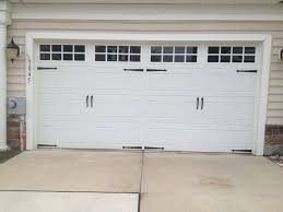 clopay gallery garage door long panel long square grill windows