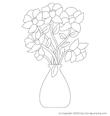 Small Picture Flowers in Vase coloring page